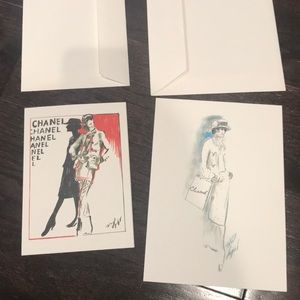 2 blank Chanel cards with envelope